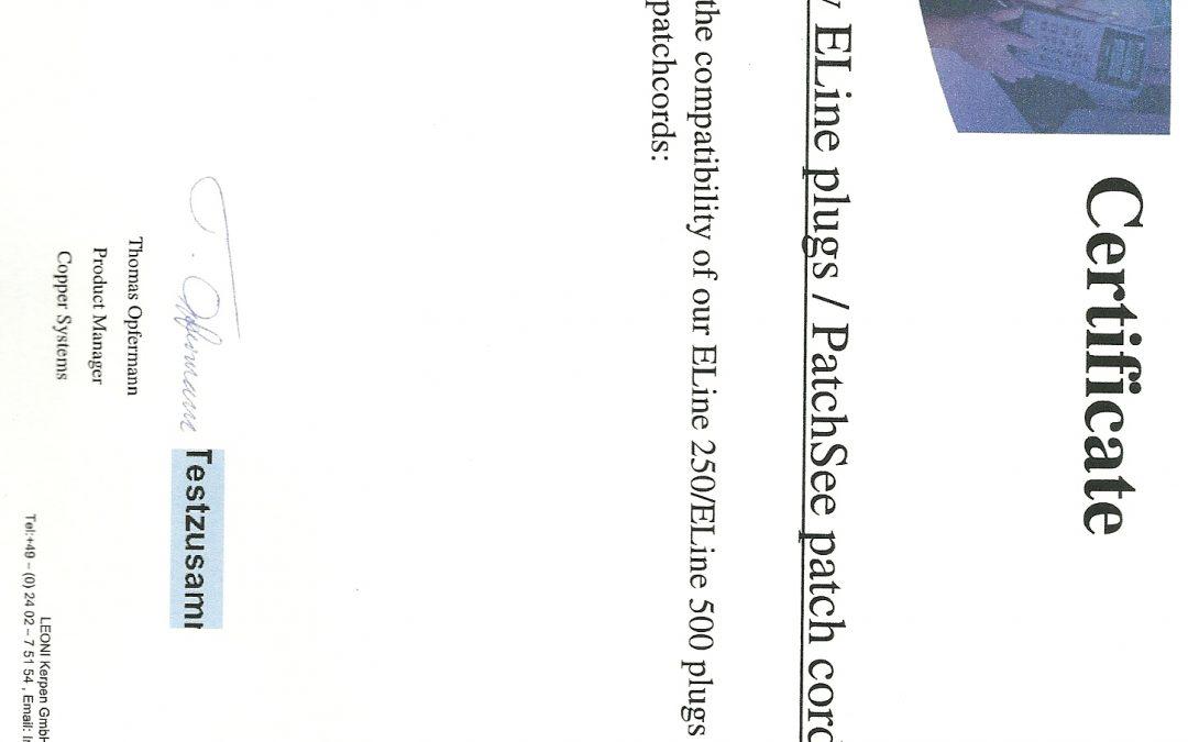 Atestado de Capacidade Técnica – PATCHSEE – PANDUIT,BELDEN , LEONI KERPEN , BRAND REX